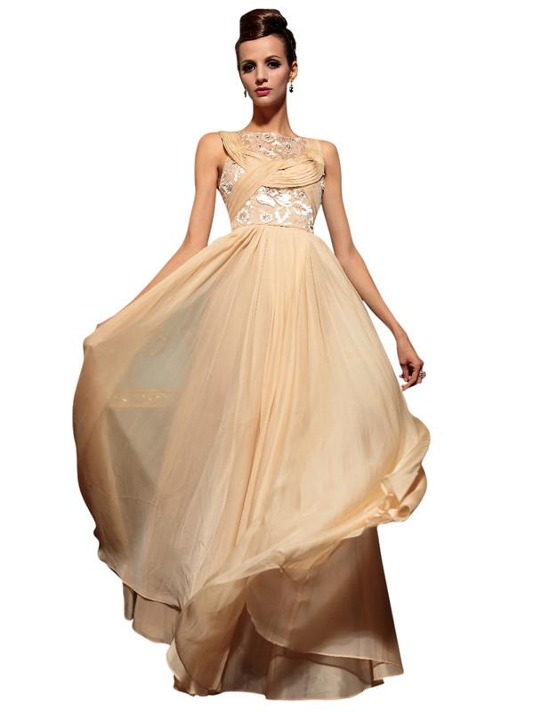 dress prom dress long bridesmaid dress pink floral lace chiffon prom dress beige dress champagne prom dress lace prom dress