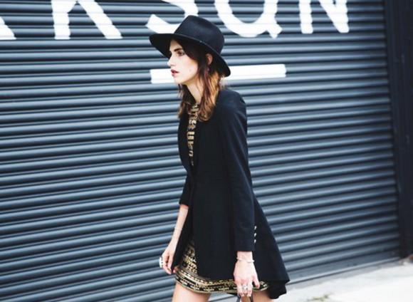 jacket blazer black hat fashion week 2014