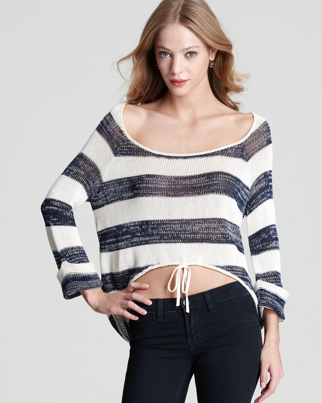 Dolce Vita Sweater - Darlena Stripe High Low - Contemporary - Bloomingdale's
