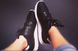 shoes adidas shoes adidas zx flux zxflux black shoes black white adidas