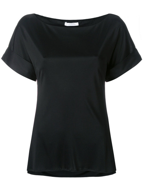 Versace Collection blouse women black satin top