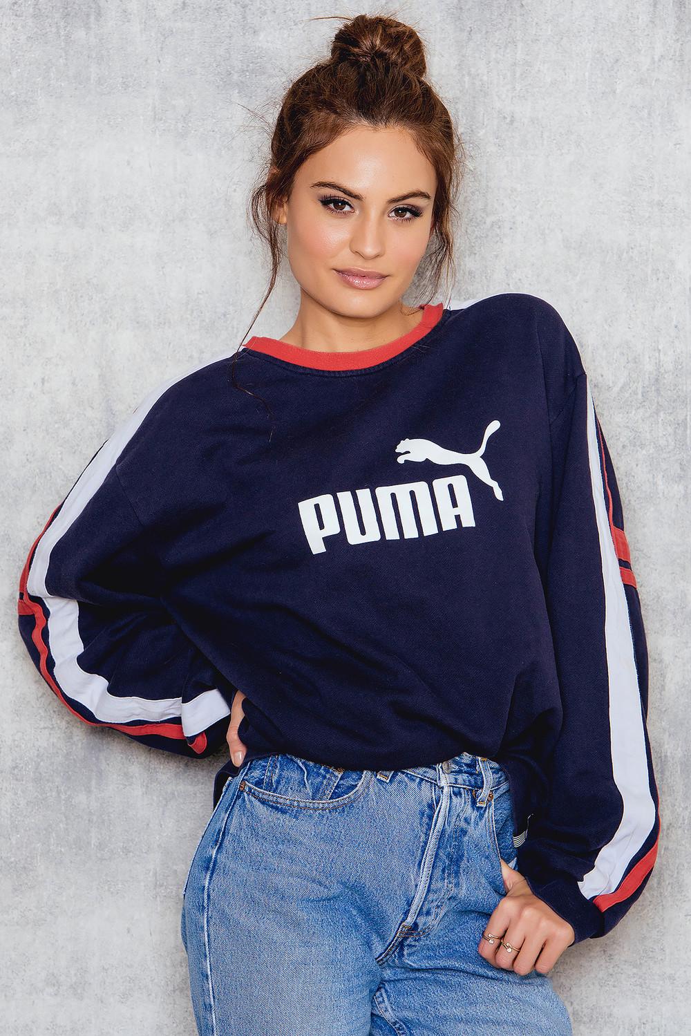 NA-KD Vintage Puma Vintage Sweatshirt