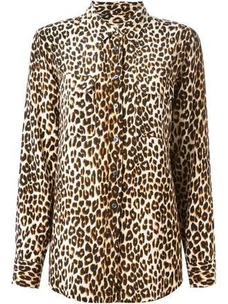 shirt print leopard print nude top