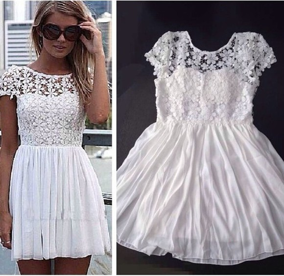 dress white lace summer dress white dress cute dress lace dress girly prom dress party dress fashion floral dress floral cute prom short dress short party dresses short prom dress short prom dresses girl girly outfits tumblr