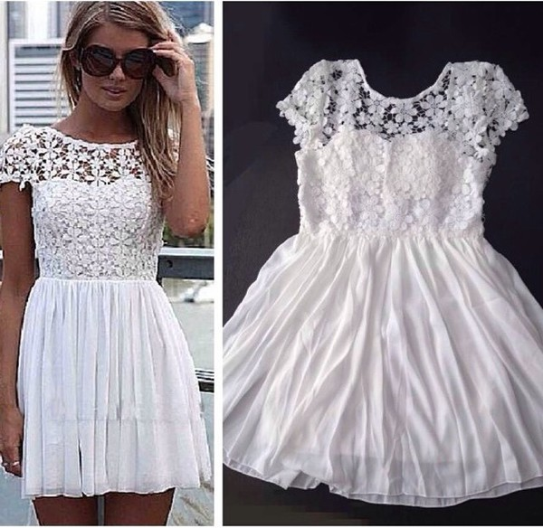 flowers dress lace dress lace floral dress white dress white floral cute dress cute girly fashion summer dress prom dress prom short dress short party dresses short prom dress short prom dress party dress girl girly outfits tumblr