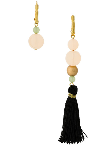 Forte Forte metal tassel women earrings black jewels