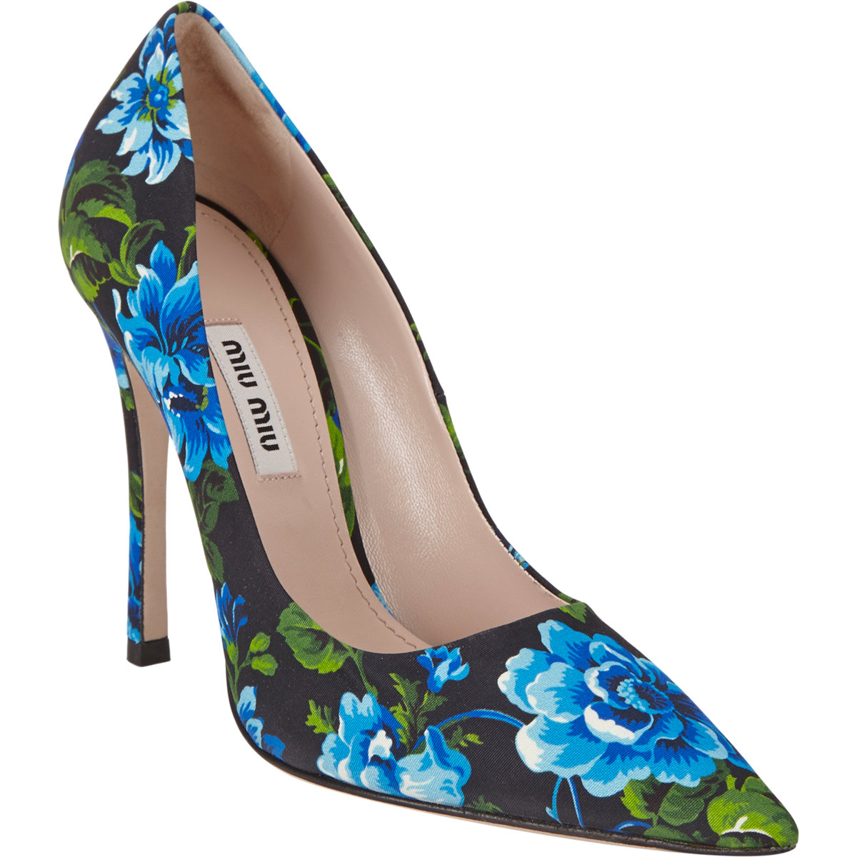 Miu Miu Floral-Print Point-Toe Pumps at Barneys.com