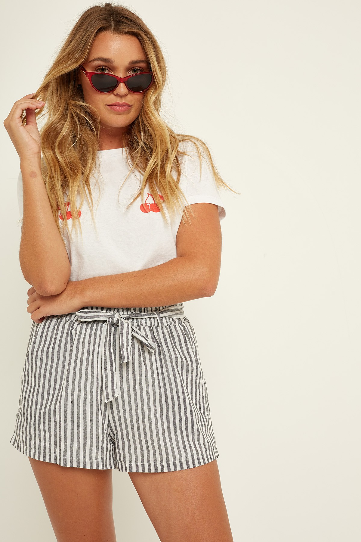 LUCK & TROUBLE Bag Shorts Stripe