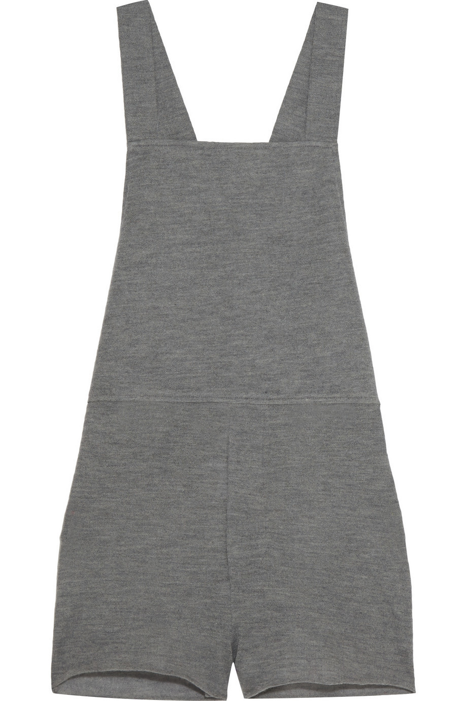 The Elder Statesman Cashmere and Silk-Blend Playsuit in anthracite