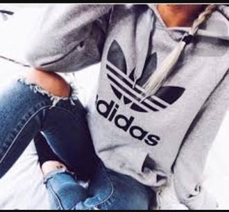 sweater adidas gray & black adidas set adidas grey sweather