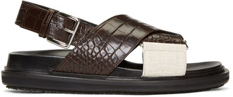 sandals white brown shoes