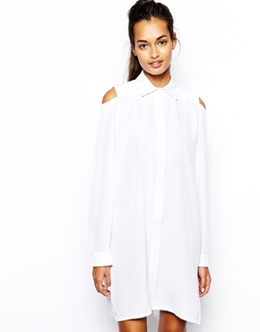 The Laden Showroom | The Laden Showroom – X Mirror Mirror – Hemdkleid mit Zierausschnitten an den Schultern bei ASOS