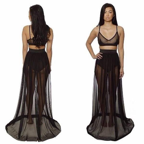 skirt white mesh skirt mesh top