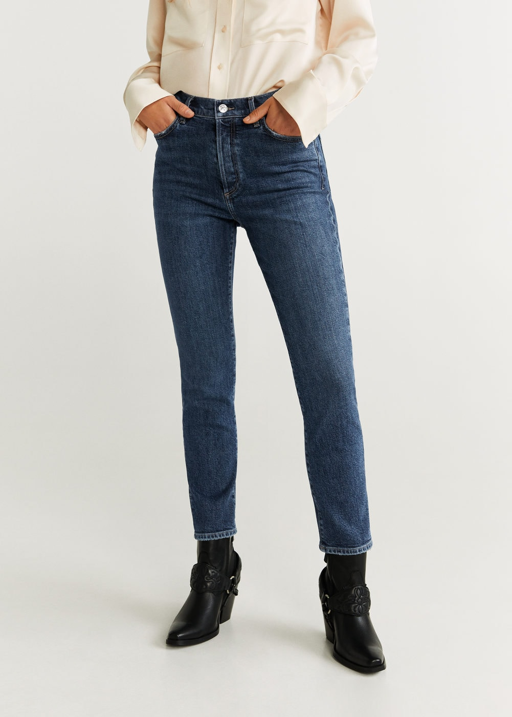 High-waist slim-jeans gisele - Damen | Mango Deutschland