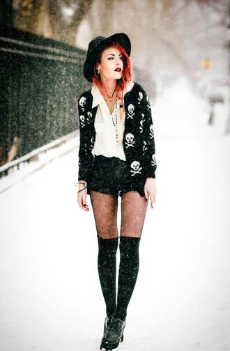 cardigan blouse luanna perez le happy blogger lookbook