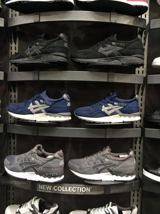 shoes grey shoes blue shoes black shoes asics gel lyte