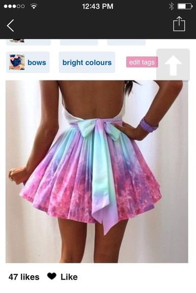 dress party beautiful pretty short dress prom backless pastel
