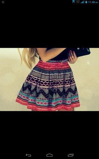 aztec print skirt skirt