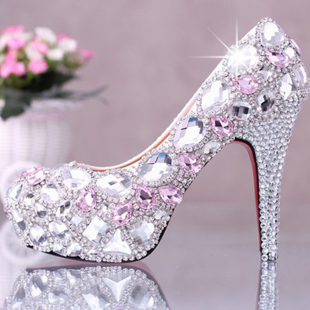 shoes evening outfits bridal dress crystal wedding dress.