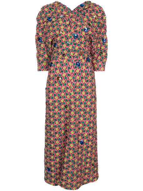 MARNI dress women silk purple pink