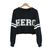 Wholesale European Street Style Letter Print Round Collar Long Sleeve Solid Color Cotton Blend Sweatshirt For Women (BLACK,ONE SIZE), Hoodies & Sweatshirts - Rosewholesale.com