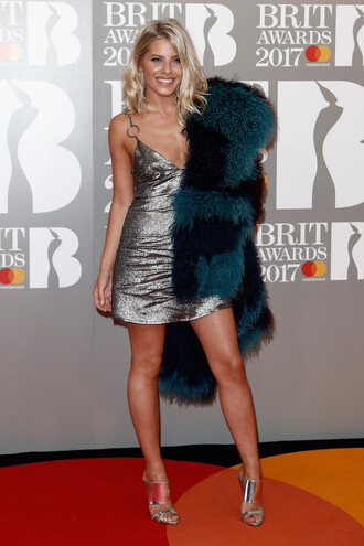 dress silver silver dress mini dress mollie king brit awards