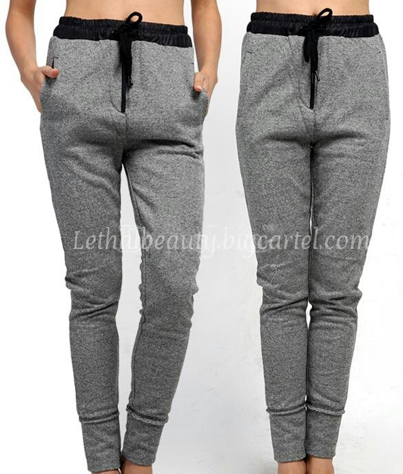 Lethalbeauty ? mineral wash drawstring joggers