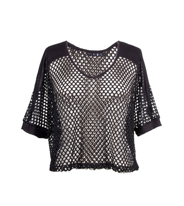 REBEL OPEN MESH CROP TOP - WOMEN'S