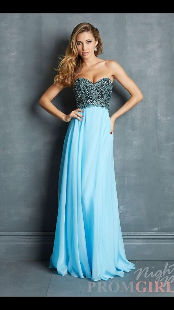 dress prom blue dress black diamond prom dress