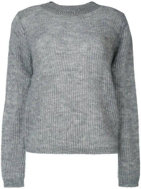 Essentiel Antwerp - Osuper ribbed jumper - women - Polyamide/Polyester/Viscose/Wool - XS, Grey, Polyamide/Polyester/Viscose/Wool