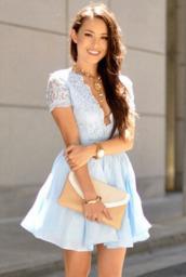 light blue,lace dress,formal dress