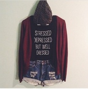 sweater,burgundy,cardigan,cute,black shirt,shirt