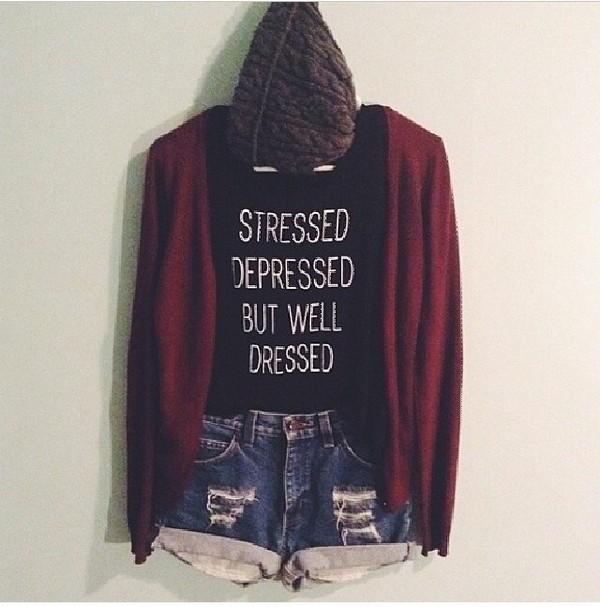 sweater burgundy cardigan cute black shirt