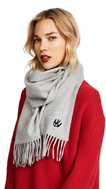 McQ - Alexander McQueen scarf grey