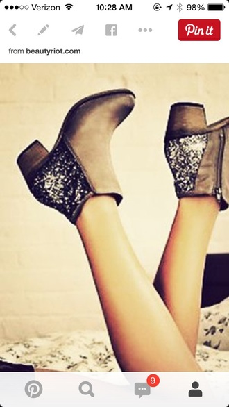shoes ankle boots glitter boots glitter sparkle boots