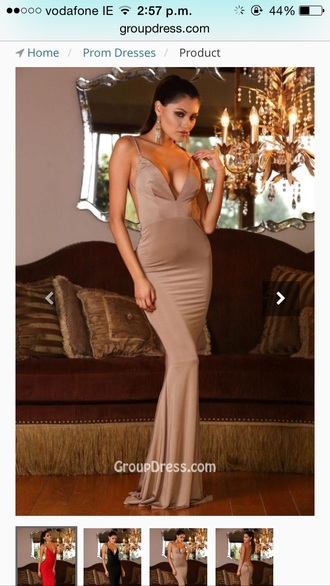 dress camal camal color brown nude tight fit bodycon maxi dress open back backless dress backless camaleonte v-line