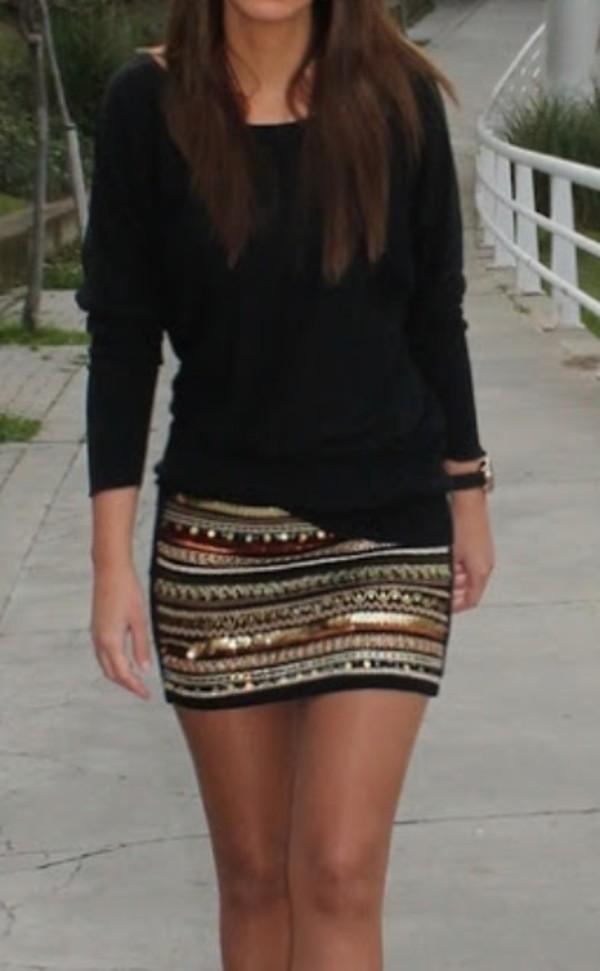 Zara Aztec Skirt Buy 119