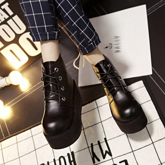 shoes lace up trendy cool platform shoes high platform ankle boots fall outfits grunge it girl shop