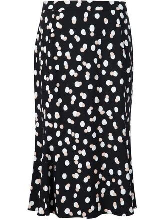 skirt polka dot skirt black