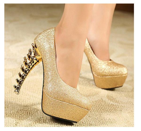 shoes heels fish bone