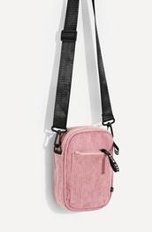 bag,girly wishlist,girly,pink,black,mini bag,crossbody bag