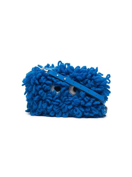 cross women bag leather blue wool