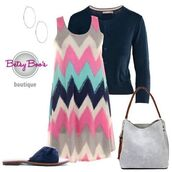 dress,chevron,outfit,boutique,womens fashion,spring,summer