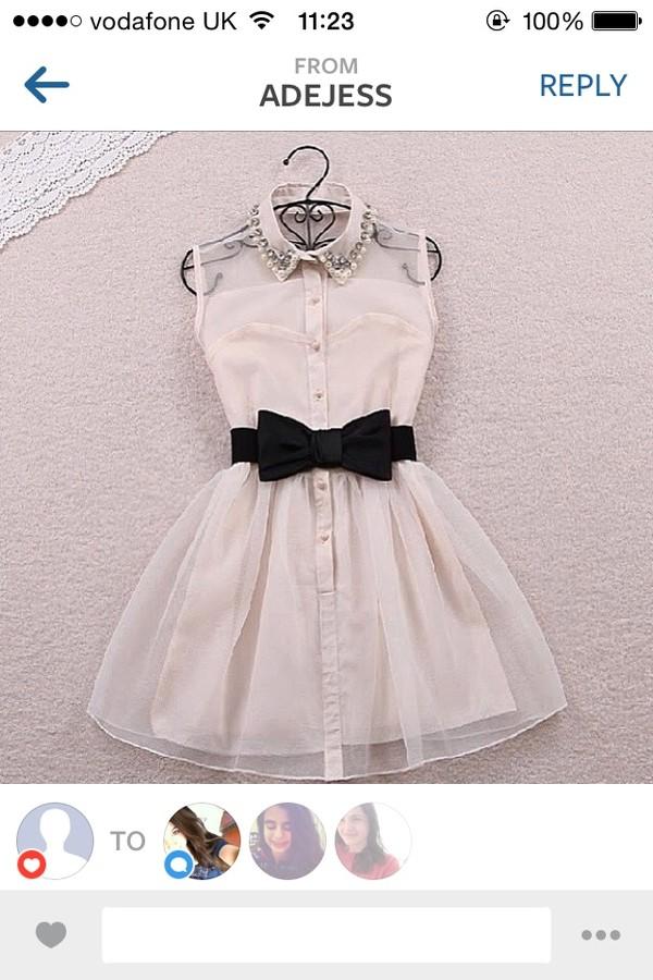 dress bow cute pink