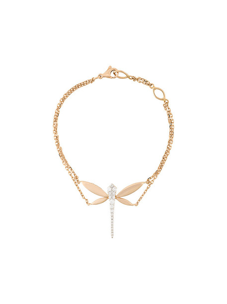 Anapsara rose gold rose women dragonfly gold grey metallic jewels