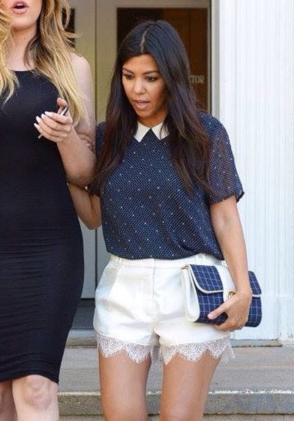 t-shirt kourtney kardashian shorts