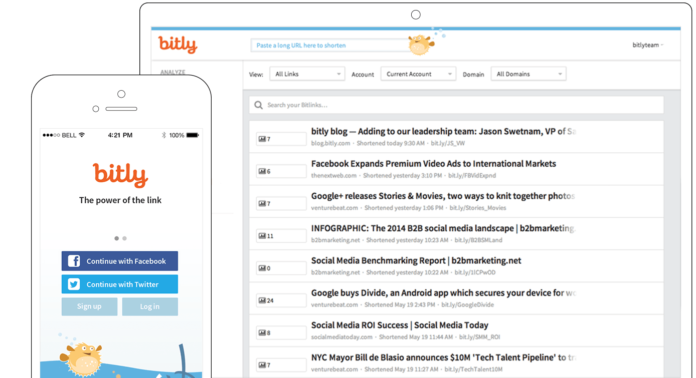 Bitly. The power of the link.