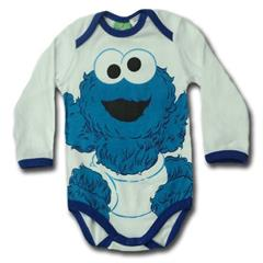 123 sesame street® long sleeve body suit romper