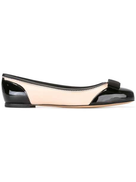 Salvatore Ferragamo women leather cotton black shoes