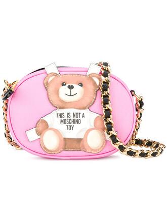 bear women bag crossbody bag purple pink